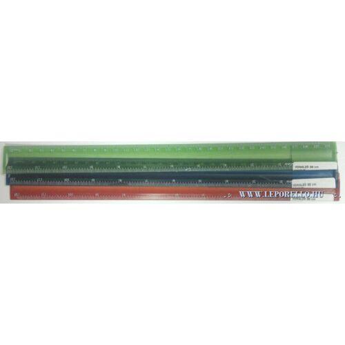 VONALZÓ egyenes 30cm hajlitható ICO színes VP