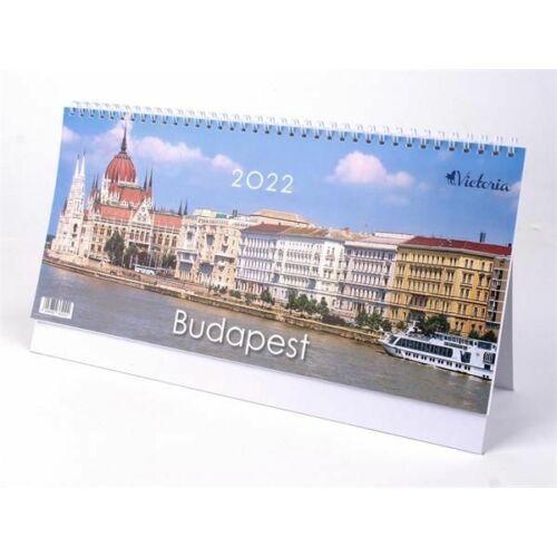 *36004 NAPTÁR asztali KÉPES 2022 Budapest  Victoria