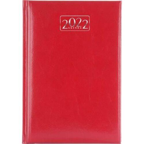 *46157 HATÁRIDŐNAPLÓ 2022 A5 napi VICTORIA tervező piros