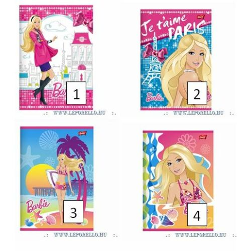 FÜZET A5 UNIPAP 2.oszt. 32lap  Barbi Fashion, Tiger, HotWheels** (Barbie Fashion, UN1226V2)