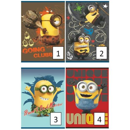FÜZET A5 UNIPAP 2.oszt.16-32lap Frozen,Minion,Best Time,Friends,Goal and Fire (Minions, UNMIN532V2)