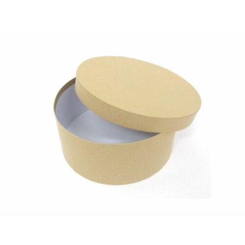 DOBOZ papír kör alakú natúr CRE-A 20,5*8cm   5/1