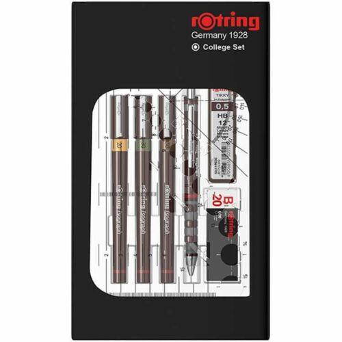 CSŐTOLL szett ROTRING College-Set 0,20-0,30-0,50mm csőtollak+tinta+ny.iron+ironbél+radír