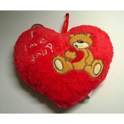 DÍSZPÁRNA plüss szív alakú macis