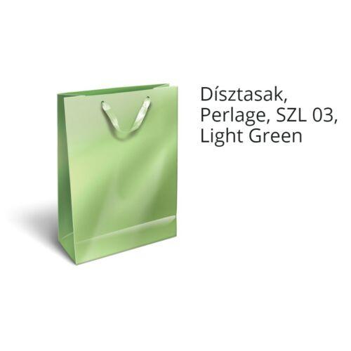 DÍSZTASAK Lizzy Perlage M szalagos egyszínű metál 18*23*9 cm