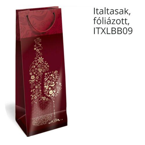 DÍSZTASAK ital Lizzy ITXL matt öko/üveges/matt fóliázott  zsinorfüles13*8*36