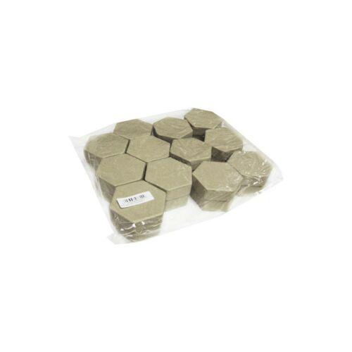 DOBOZ papír natur CRE-A hatszögletű 6x5x3,5 cm