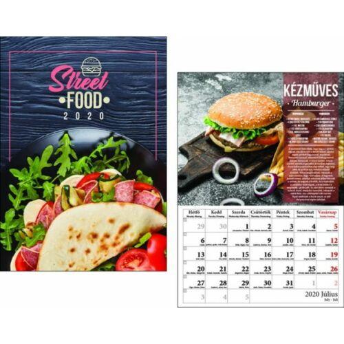 FALINAPTÁR 2020 Street Food  T-Calendar  23*33