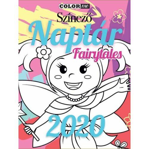 FALINAPTÁR 2020 szinező Color Me Fairytales LIZZY lemez 30*30cm+aj.poszter