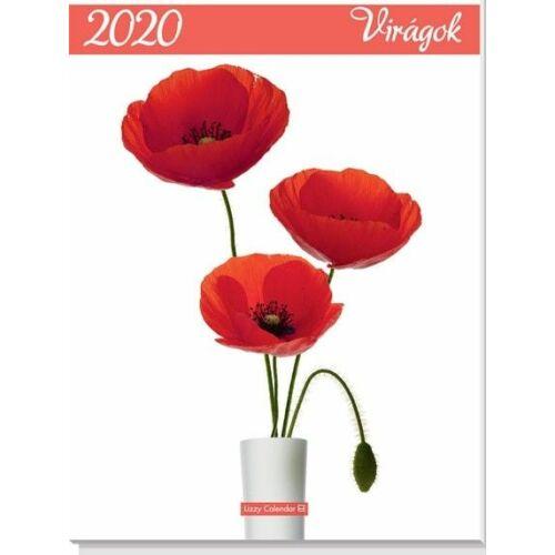 FALINAPTÁR 2020 virág Virágok LIZZY B3 spirálozott 33*48cm