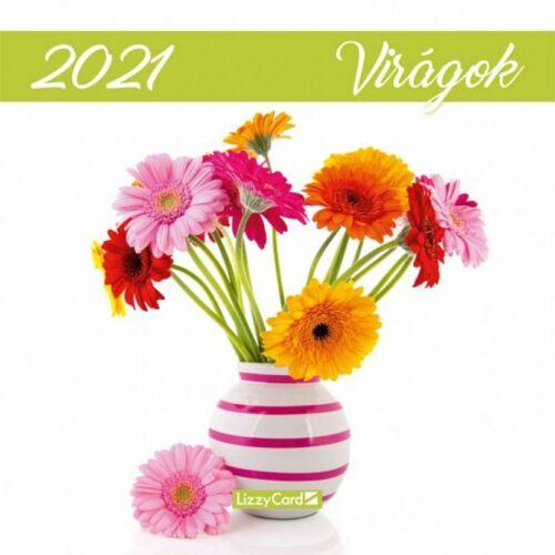 FALINAPTÁR 2021 LIZZY lemez M közepes 18*18  Virágok