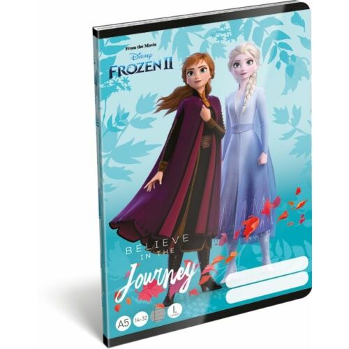 FÜZET A5  LIZZY vonalas 1.oszt. 14-32 Frozen2 Believe