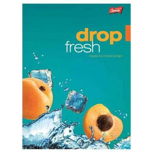 FÜZET A5 UNIPAP kockás 96lap vegyes minta  Fresh Fruit, Very Tasty (Fresh Fruit, UNFF596K)
