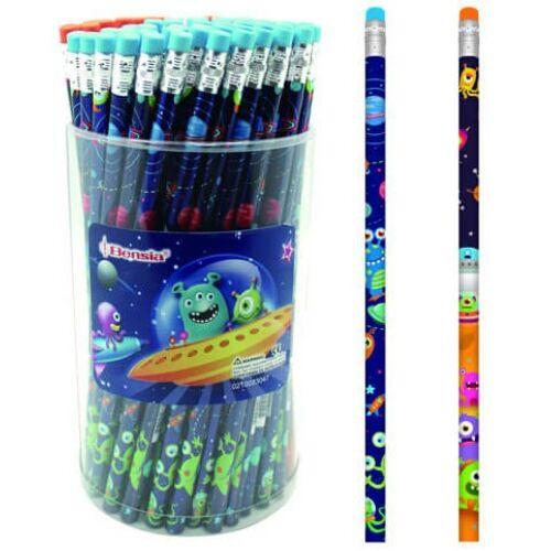 GRAFIT ceruza BENSIA radírral monster VENOI40**