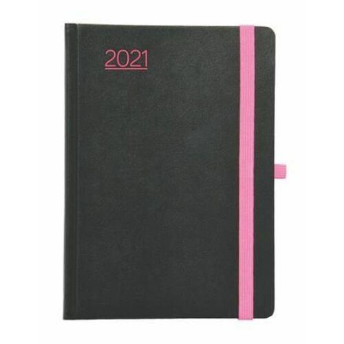 """HATÁRIDŐNAPLÓ 2021 A5 heti TOPTIMER """"Nero"""" (pink, NKN015P)"""