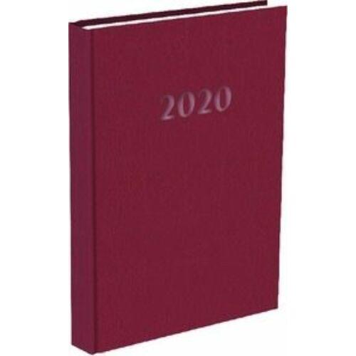 HATÁRIDŐNAPLÓ 2020 A5 napi T-Calendar Prestige Pearl gyöngyház (bordó, L03083PP775)