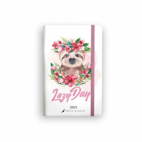 HATÁRIDŐNAPLÓ 2021 A5 heti SECRET Planner Lizzy Dolce Blocco gumis (Lazy Day, 20843499)