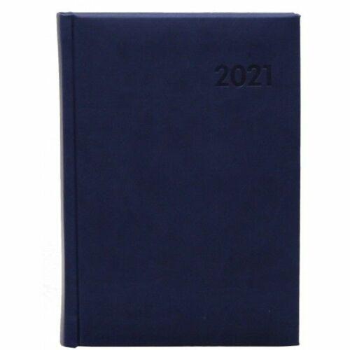 HATÁRIDŐNAPLÓ 2021 A5 napi OFFICE 21 évszám nyomott mintás (középkék, 288532000)