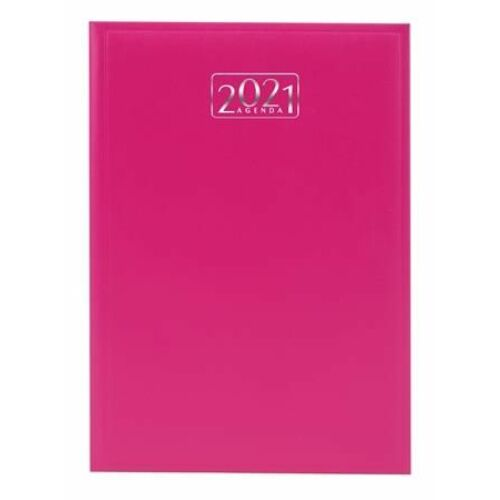 HATÁRIDŐNAPLÓ 2021 A5 napi VICTORIA tervező pink