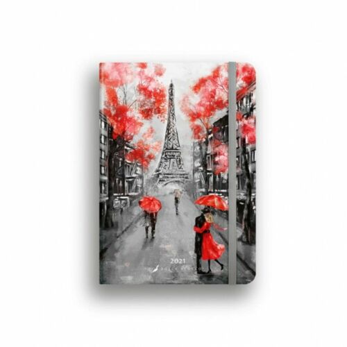 HATÁRIDŐNAPLÓ 2021 B6 heti SECRET calendar Lizzy Dolce Blocco gumis (Paris, 20842899)