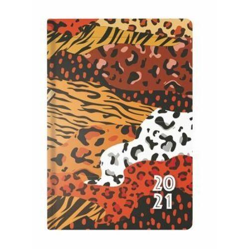 HATÁRIDŐNAPLÓ 2021 B6 heti TOPTIMER Joy Flexi  F012 (leopárd, NKF012L)