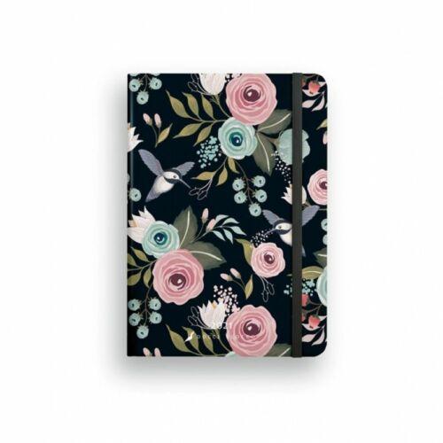 HATÁRIDŐNAPLÓ 2021 B6 napi SECRET Diary LIZZY Dolce Blocco gumis,kerekitett (Twilight Birds, 20844699)