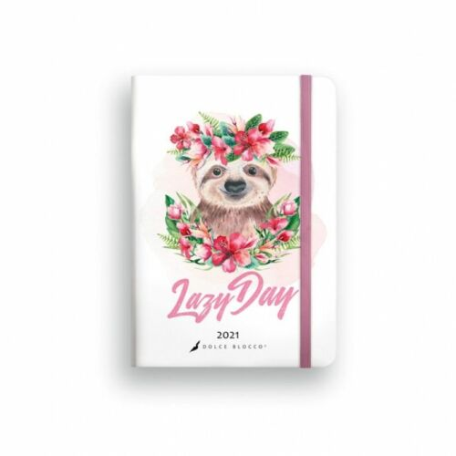 HATÁRIDŐNAPLÓ 2021 B6 napi SECRET Diary LIZZY Dolce Blocco gumis,kerekitett (Lazy Day, 20844299)