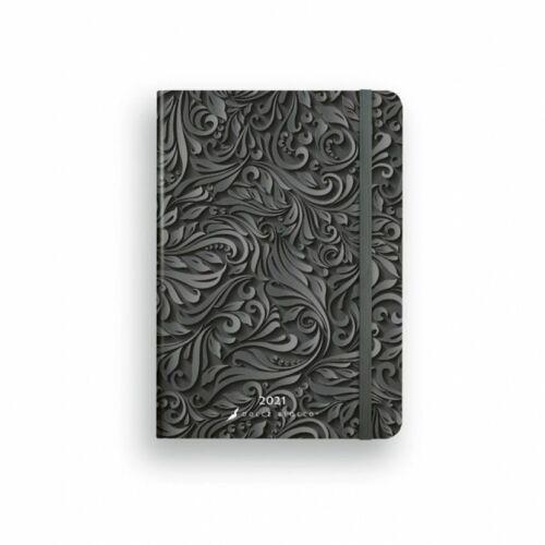 HATÁRIDŐNAPLÓ 2021 B6 napi SECRET Diary LIZZY Dolce Blocco gumis,kerekitett (Midnight Baroque, 20844399)