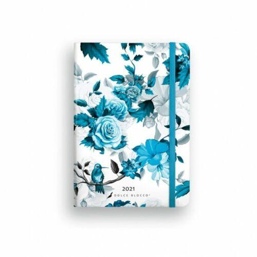 HATÁRIDŐNAPLÓ 2021 B6 napi SECRET Diary LIZZY Dolce Blocco gumis,kerekitett (Ice Bird, 20844099)