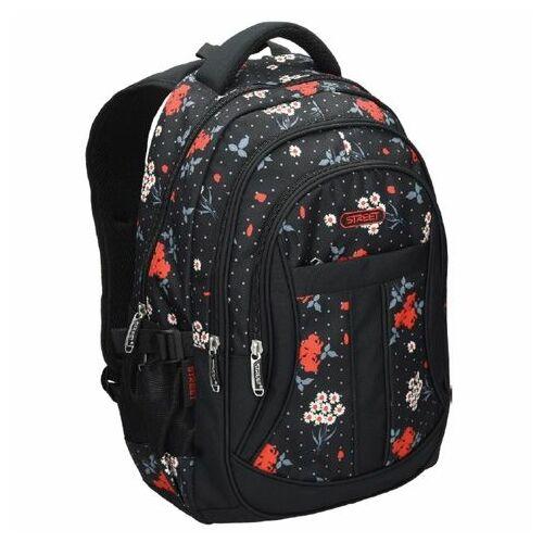Hátitáska Street Daisy virágos 530123 fekete