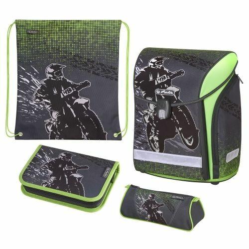 Iskolatáska Herlitz Midi Plus töltött táska+tollt+tzsák Motorcross