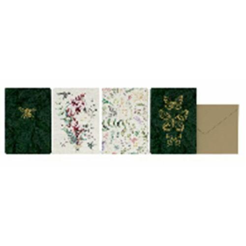 KÉPESLAP LANNOO Botanic 1 oldalas arany borítékkal