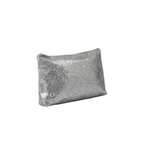 KOZMETIKAI táska Quattro Colori Sparkle csillámos, ezüst