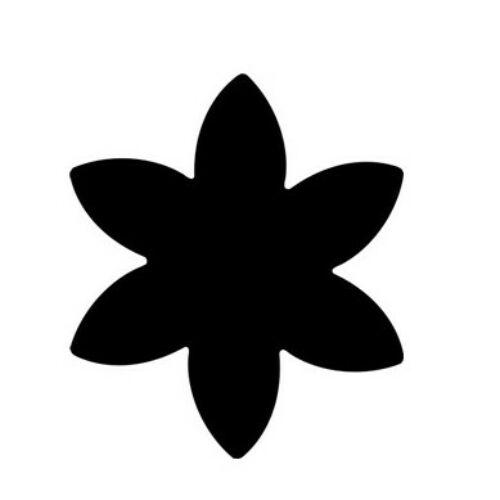 KREATÍV LYUKASZTÓ 16mm karos dekorgumihoz is CRE ART (csillagvirág, TLYFO326)
