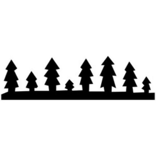 KREATÍV lyukasztó CRE ART sorminta  bordűr (fenyőfák, TLYFO248)