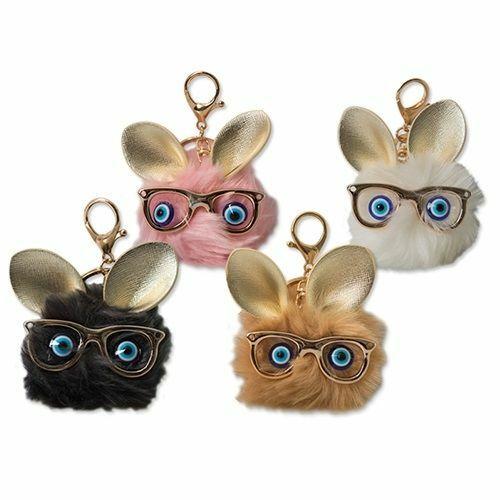 KULCSTARTÓ szemüveges szőrös manó    711064