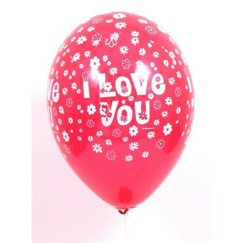 "LUFI 30cm kerek piros  ""I love you""  10db/cs."