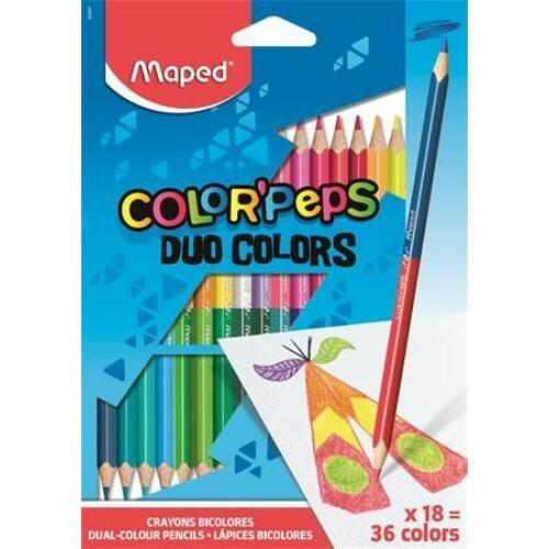 SZÍNES CERUZA 18*2 duó MAPED ColorPeps trió