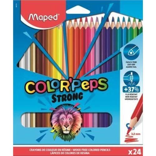 "SZINESCERUZA 24 háromszögletű  MAPED ""Color'Peps Strong"""