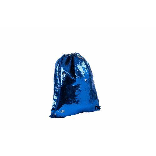 TORNAZSÁK flitteres Sparkle Quattro Colori cipzáras zsebbel, kék