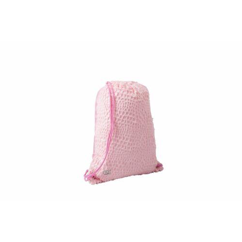 TORNAZSÁK szőrös Sparkle Quattro Colori cipzáras zsebbel, pink