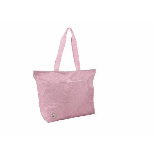 Válltáska Quattro Colori Sparkle pink, csillámos, 28l