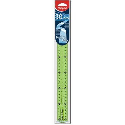 VONALZÓ egyenes 30cm MAPED törhetetlen Twist n Flex , hajlitható