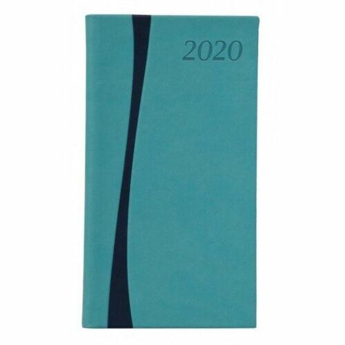 ZSEBNAPTÁR 2020 heti álló TOPTIMER Duplex D035 (türkiz/kék, 2852610..)