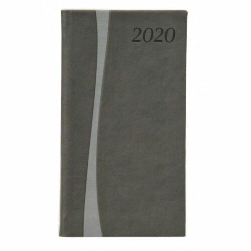 ZSEBNAPTÁR 2020 heti álló TOPTIMER Duplex D035 (antracit szürke, 285261000)