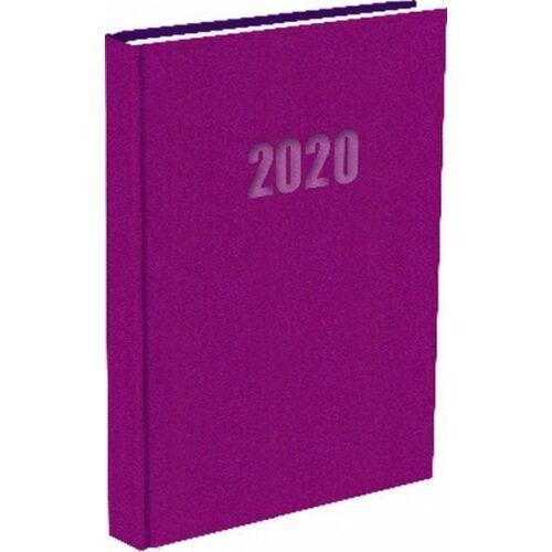 ZSEBNAPTÁR 2020 heti fekvő T-Calendar Balacron (bíbor, L03921730)