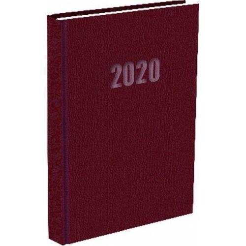 ZSEBNAPTÁR 2020 heti fekvő T-Calendar Balacron (bordó, L03921750)