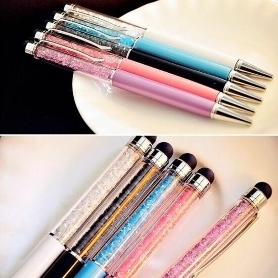 GolyósToll színes, kristállyal, touch pen