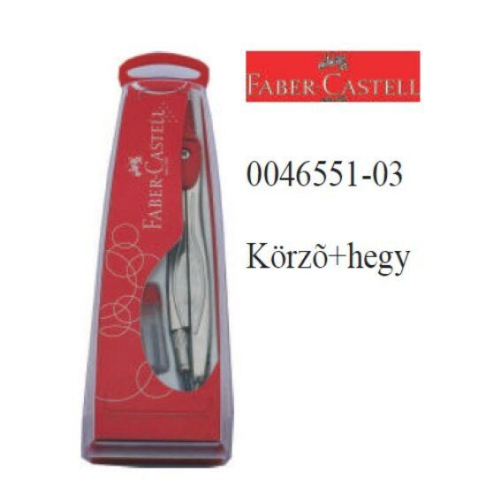 KÖRZŐ FABER Castell +hegy Műanyag tokban rövid  0045551-01-03