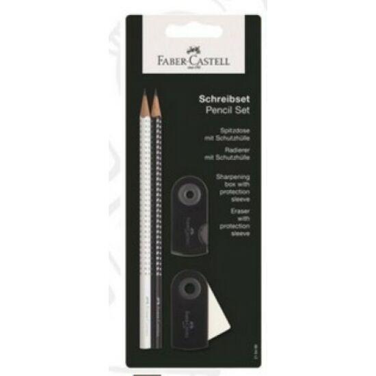 GRAFITSZETT Faber-Castell  2db grip ceruza+hegyező+radír bliszterben